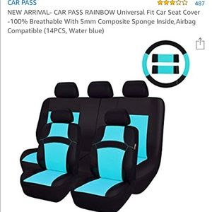 Car pass rainbow universal carseat covers
